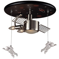 ELK Lighting Novelty Space/Astronaut Theme 2 Light Semi-Flush Mount in Satin Nickel 5089/3
