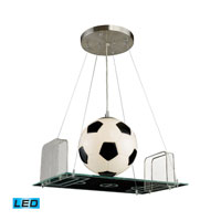 ELK Lighting Novelty 1 Light Pendant in Satin Nickel 5134/1-LED