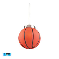 ELK Lighting Novelty 1 Light Pendant in Satin Nickel 5137/1-LED