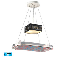 ELK 5138/2-LED Novelty LED 22 inch Silver with Multicolor Island Light Ceiling Light, Hockey Arena Motif