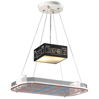 Novelty 2 Light 22 inch Silver with Multicolor Island Light Ceiling Light in Incandescent, Hockey Arena Motif