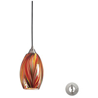 ELK Lighting Mulinello 1 Light Pendant in Satin Nickel 517-1M-LA