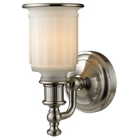 ELK 52000/1 Acadia 1 Light 7 inch Brushed Nickel Vanity Light Wall Light in Incandescent