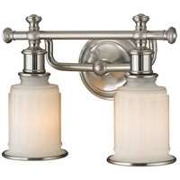 ELK Lighting Acadia 2 Light Bath Bar in Brushed Nickel 52001/2