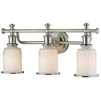 ELK 52002/3 Acadia 3 Light 22 inch Brushed Nickel Vanity Light Wall Light in Incandescent