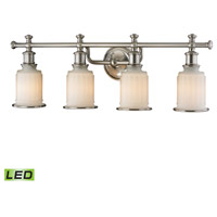 Acadia LED 30 inch Brushed Nickel Bath Bar Wall Light in 4