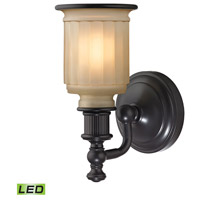 Acadia LED 5 inch Oil Rubbed Bronze Bath Bar Wall Light in 1