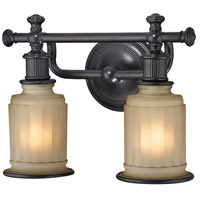 Acadia 2 Light 13 inch Oil Rubbed Bronze Vanity Light Wall Light in Incandescent