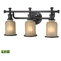 ELK 52012/3-LED Acadia LED 22 inch Oil Rubbed Bronze Bath Bar Wall Light in 3