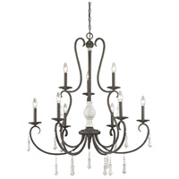 ELK 52024/6+3 Porto Cristo 9 Light 37 inch Birtch with Palermo Rust Chandelier Ceiling Light