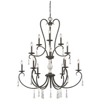 ELK 52025/6+3+3 Porto Cristo 12 Light 42 inch Birtch with Palermo Rust Chandelier Ceiling Light