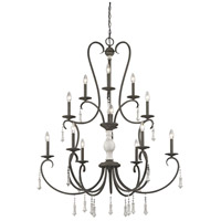 Porto Cristo 12 Light 42 inch Palermo Rust with Birch Chandelier Ceiling Light