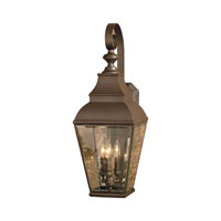 ELK Lighting Bristol 3 Light Outdoor Wall Sconce in Aged Copper 5216-AC