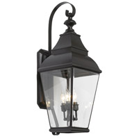 Bristol 3 Light 31 inch Charcoal Outdoor Sconce