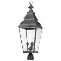 ELK Lighting Bristol 3 Light Outdoor Post Light in Charcoal 5217-C