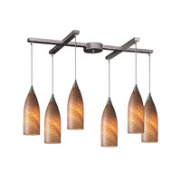 ELK Lighting Cilindro 6 Light Pendant in Satin Nickel 522-6C