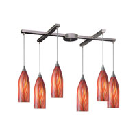 ELK Lighting Cilindro 6 Light Pendant in Satin Nickel 522-6M