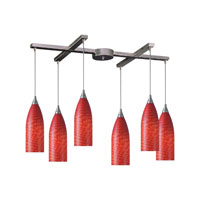 ELK Lighting Cilindro 6 Light Pendant in Satin Nickel 522-6SC