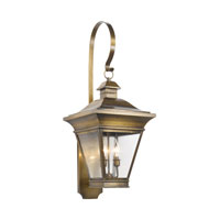 Reynolds 3 Light 35 inch Oiled Rubbed Brass Outdoor Sconce