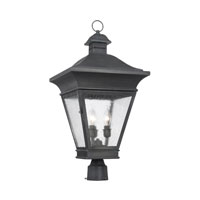 ELK Lighting Reynolds 3 Light Outdoor Post Light in Charcoal 5239-C