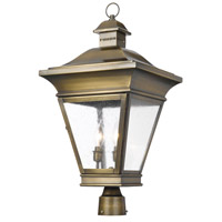 Reynolds 3 Light 26 inch Oiled Rubbed Brass Outdoor Post Light
