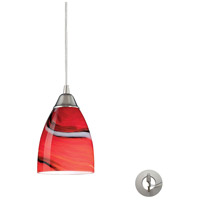 ELK Lighting Pierra 1 Light Pendant in Satin Nickel 527-1CY-LA