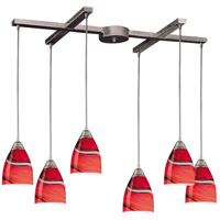 ELK Lighting Pierra 6 Light Pendant in Satin Nickel 527-6CY