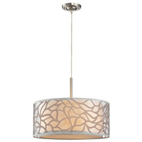 ELK 53001/3 Autumn Breeze 3 Light 18 inch Brushed Nickel Pendant Ceiling Light in Standard, Convertible to Flush Mount