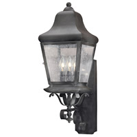 Belmont 3 Light 25 inch Charcoal Outdoor Sconce