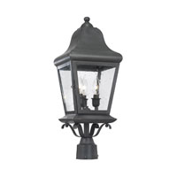 ELK Lighting Belmont 3 Light Outdoor Post Light in Charcoal 5313-C