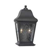 Belmont 2 Light 17 inch Charcoal Outdoor Sconce