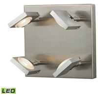 Reilly 4 Light 8 inch Brushed Nickel & Brushed Aluminum Wall Sconce Wall Light