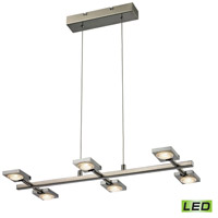 ELK Lighting Reilly LED Chandelier in Brushed Nickel & Brushed Aluminum 54017/6