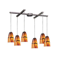 ELK Lighting Fuego 6 Light Pendant in Satin Nickel 541-6JAS