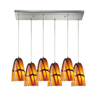 ELK Lighting Fuego 6 Light Pendant in Satin Nickel 541-6RC-JAS