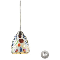 ELK 542-1-LA Gemstone 1 Light 6 inch Satin Nickel Mini Pendant Ceiling Light in Recessed Adapter Kit, Incandescent