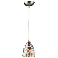 ELK 542-1-LED Gemstone LED 6 inch Satin Nickel Pendant Ceiling Light in 1, Standard
