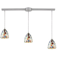 ELK 542-3L Gemstone 3 Light 36 inch Satin Nickel Linear Pendant Ceiling Light in Incandescent, Linear with Recessed Adapter