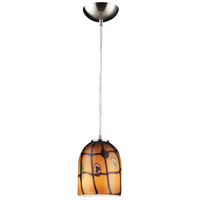 Elk Lighting Rapture 1 Light Pendant In Satin Nickel 543-1Ci