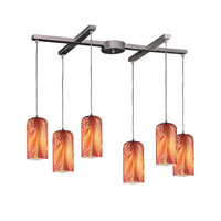 ELK Lighting Molten 6 Light Pendant in Satin Nickel 544-6ML photo thumbnail