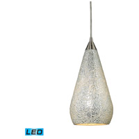 ELK Lighting Curvalo 1 Light Pendant in Satin Nickel 546-1SLV-CRC-LED