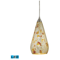 ELK Lighting Curvalo 1 Light Pendant in Satin Nickel 546-1SLVM-CRC-LED