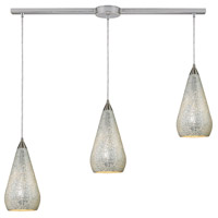 ELK Lighting Curvalo 3 Light Pendant in Satin Nickel 546-3L-SLV-CRC