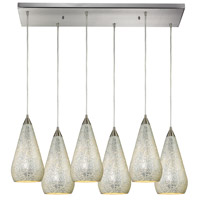 ELK Lighting Curvalo 6 Light Pendant in Satin Nickel 546-6RC-SLV-CRC