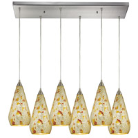 ELK Lighting Curvalo 6 Light Pendant in Satin Nickel 546-6RC-SLVM-CRC
