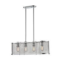 ELK Lighting Brisbane 4 Light Chandelier in Polished Chrome 55003/4
