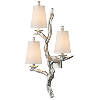 Sprig 3 Light 19 inch Silver Leaf Wall Sconce Wall Light