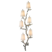 Sprig 6 Light 19 inch Silver Leaf Wall Sconce Wall Light