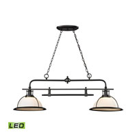 ELK Lighting Wilmington LED Island Light in Oil Rubbed Bronze 55046/2-LED