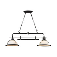 Wilmington 2 Light 47 inch Oil Rubbed Bronze Island Light Ceiling Light in Standard